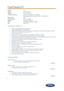 Specifikace Fordu Fiesta ST
