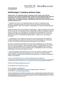 Värdebarometern 2017 Lekebergs kommun