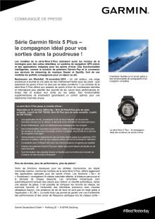 Série Garmin fēnix 5 Plus – le compagnon idéal pour vos sorties dans la poudreuse !