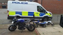 Two arrested and stolen motorcycles recovered in Cockerell Close, Liverpool