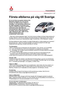 Första elbilarna på väg till Sverige