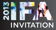 You are kindly invited to visit Gorenje's stand at the 2013 IFA tradeshow