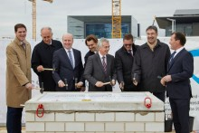 Messe Frankfurt: Laying of the foundation stone for the new Hall 12