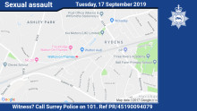 Woman sexually assaulted in Walton-on-Thames - can you help?