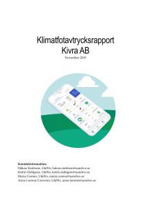 Kivras klimatavtrycksrapport