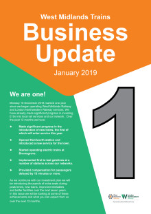West Midlands Trains Business Update - Jan 2019
