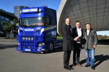 Erste Lkw-Auslieferung in der Autostadt