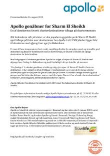 Apollo genåbner for Sharm El Sheikh