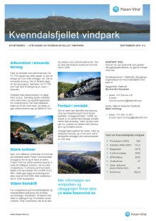 Nyhetsbrev Kvenndalsfjellet vindpark #2 - 2018