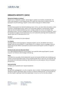 Hepatit C  - Ordlista (AbbVie)