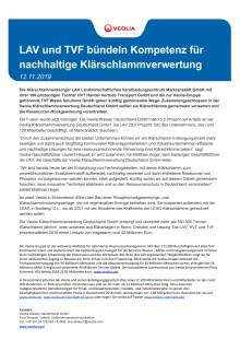 LAV und TVF bündeln Kompetenz für nachhaltige Klärschlammverwertung