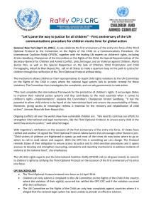 Ratify OP3 Statement, First anniversary