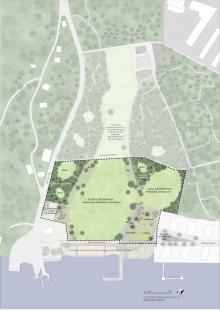 Illustrationsplan Färjenäsparken 2021, Mareld Landskapsarkitekter