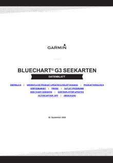 Datenblatt Garmin BlueChart g3 Vision Seekarten v2021