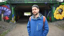 MDH-student sätter färg på tunnel i Årby