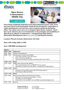 Open Source  in Automation -  OSADL Day