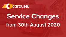 Service Changes - 30th August 2020