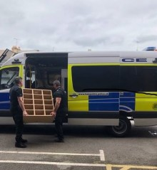 Hampshire officers donate furniture to Zambia school charity