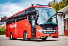 Scania Bus im Einsatz des Landes-Feuerwehrverbands Oberösterreich