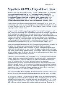 210201 Öppet brev SVTs Fråga doktorn hälsa 1.pdf
