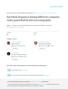 Eye blink frequency during different computer tasks quantified by electrooculography