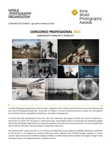Sony World Photography Awards 2021. Concorso Professional 2021. Annunciati finalisti e shortlist