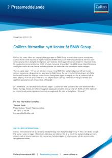 Colliers förmedlar nytt kontor åt BMW Group