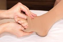 Lymphöden: Zeichen am Fuß