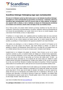 Scandlines Helsingør-Helsingborg tager igen markedsandele