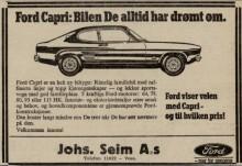 Markerer ikonet Ford Capris 50 årsdag med historisk reise