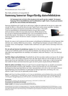 Samsung lanserar fingerfärdig datorbildskärm