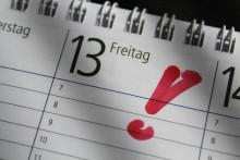 Keine Panik: Freitag, der 13. ist kein Unglückstag