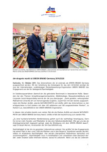 dm-drogerie markt ist GREEN BRAND Germany 2019/2020