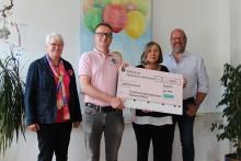 Mitarbeiter-Spende: Westfalen Weser Energie-Gruppe  unterstützt Ambulanten Kinder- und Jugendhospizdienst Paderborn-Höxter