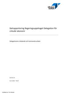 Delegationen för cirkulär ekonomi delrapport feb 2019