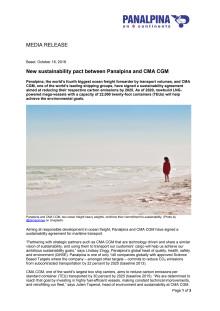 New sustainability pact between Panalpina and CMA CGM