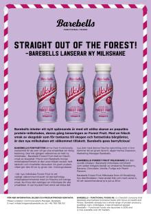 Barebells lanserar ny milkshake - straight out of the forest!