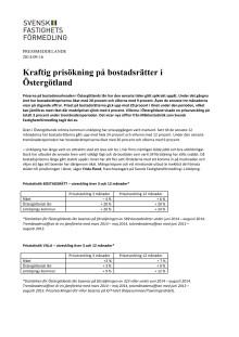 Kraftig prisökning på bostadsrätter i Östergötland