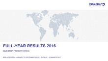 Full-Year Results 2016 – Investor Presentation