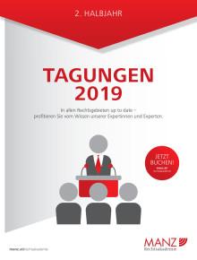 MANZ Rechtsakademie Tagungen 2. Halbjahr 2019