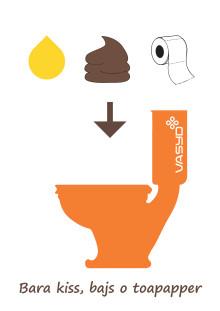 Affisch - bara kiss, bajs och toalettpapper