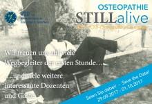 """20. Osteopathie-Kongress """"STILLalive"""": Anmeldung ab sofort möglich"""