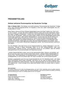 Gothaer exklusiver Premiumpartner der Deutschen Turnliga