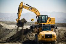 Cats grävmaskiner i Next Generation visas live i Sverige