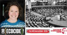 Kan Sverige leda världen mot en rättvis klimatpolitik? Kan storskaliga miljöbrott, ekocid, kriminaliseras? Seminarium med Pella Thiel på söndag, Palmedagarna.