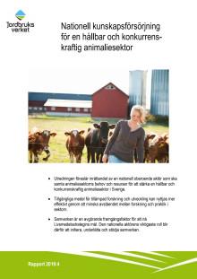 Nationell kunskapsförsörjning för en hållbar och konkurrenskraftig animaliesektor