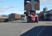 Green Cargo och Volvo Cars utförde ett tufft uppdrag tillsammans med stort engagemang på Kombiterminalen Gullbergsvass i Göteborg