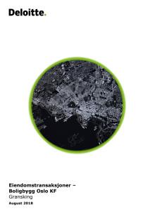 Rapport fra Deloitte: Eiendomstransaksjoner – Boligbygg Oslo KF