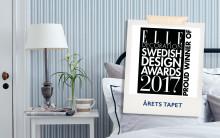 Boråstapeter vinner Elle Decoration Swedish Design Awards   - Sissa Sundling får priset Årets Tapet för kollektionen Lexington