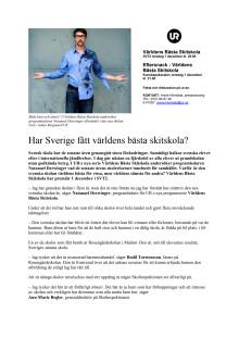 Har Sverige fått världens bästa skitskola?